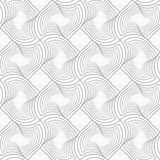 Slim gray hatched twisted shapes in turn Royalty Free Stock Photo