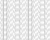 Slim gray hatched wavy columns Royalty Free Stock Images