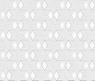 Slim gray hexagons and diamonds Royalty Free Stock Image