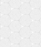 Slim gray merging spirals with crossed triangles Royalty Free Stock Images