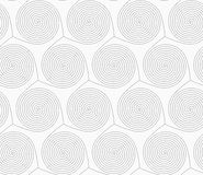 Slim gray merging spirals Royalty Free Stock Photos