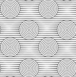 Slim gray offset circles on stripes alternating Royalty Free Stock Images