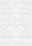 Slim gray overlapping hexagons in turn Royalty Free Stock Images