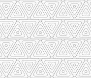 Slim gray rounded triangles with offset Royalty Free Stock Photo