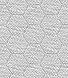 Slim gray scribbled hexagons Royalty Free Stock Photography