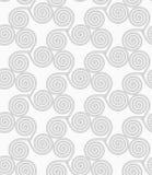 Slim gray small striped spirals three turn Stock Photography