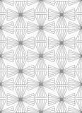 Slim gray striped crosses in grid Royalty Free Stock Photo