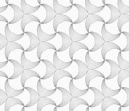 Slim gray striped double pointy trefoils Royalty Free Stock Images