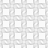 Slim gray striped ovals in grid Stock Photos