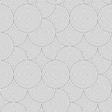 Slim gray striped overlapped circles random Royalty Free Stock Photos