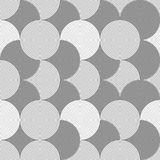 Slim gray striped overlapped circles Stock Photography