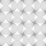 Slim gray striped semi circles Royalty Free Stock Images