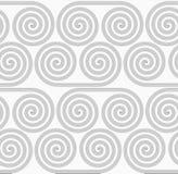 Slim gray striped spiral rolls Stock Photos
