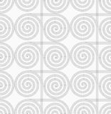 Slim gray striped spirals crossing Stock Images