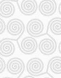 Slim gray striped spirals three turn Stock Photos