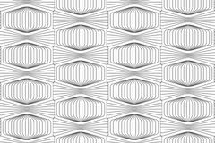 Slim gray striped squished hexagon Royalty Free Stock Images