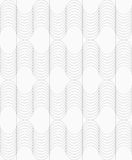 Slim gray striped waves Stock Photos
