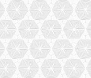 Slim gray stripes circles on striped triangles Royalty Free Stock Images