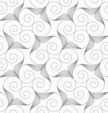 Slim gray swirly hearts turned Stock Images