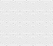 Slim gray triangles with offset Royalty Free Stock Photography