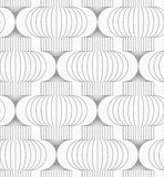 Slim gray vertical Chinese lanterns Stock Image