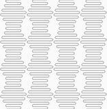 Slim gray vertical hexagonal waves Stock Photos