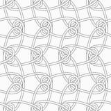 Slim gray vertical interlocking ornament Royalty Free Stock Images