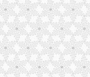 Slim gray wavy diamonds forming connecting stars Royalty Free Stock Image