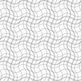 Slim gray wavy lines forming wavy squares Royalty Free Stock Photo