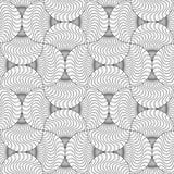 Slim gray wavy striped pin will Royalty Free Stock Photography