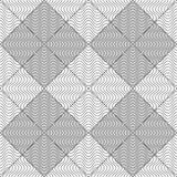Slim gray wavy striped squares Stock Photography