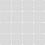 Slim gray wavy striped triangles in row Royalty Free Stock Photos