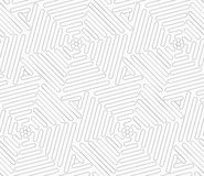 Slim gray wavy triangles forming hexagons Stock Photo