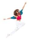 Slim hip-hop style woman dancer dancing Stock Images