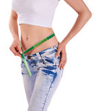 Slim hips - losing weight Stock Images