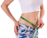 Slim hips - losing weight Royalty Free Stock Photo
