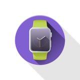 Slim horloge iWatch Royalty-vrije Stock Foto's