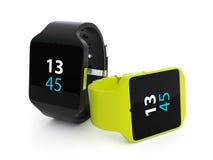 Slim horloge op witte achtergrond Stock Fotografie