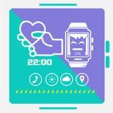 Slim horlogeconcept Stock Foto