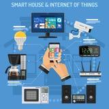 Slim Huis en Internet van dingen Stock Foto
