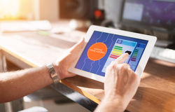 Slim Huisapparaat - het concept van de het huiscontrole van de Huisautomatisering stock foto's
