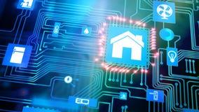 Slim Huisapparaat - Huiscontrole stock videobeelden