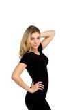 Slim isolerade kvinnan, vikt-förlust, bra form Royaltyfria Foton