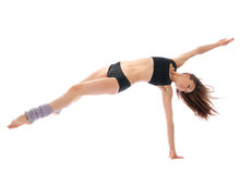 Slim jazz modern ballet dancer dancing royalty free stock photo