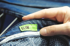 Slim jeans Royalty Free Stock Photography