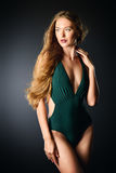 Slim lady in bikini Stock Photo