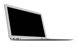 Slim Laptop isolated on white Stock Photo