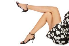 Slim legs royalty free stock images
