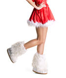 Slim legs of girl Stock Images
