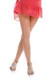Slim legs in heel shoes. Stock Images